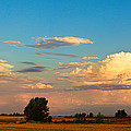 Thunderstorm Front Blue Sky And Moon Panorama by James BO Insogna