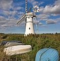 Thurne Dyke Windpump Norfolk by Louise Heusinkveld
