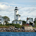Tibbet's Point Lighthouse Lake Ontario by Linda Rae Cuthbertson