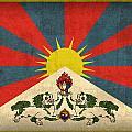 Tibet Flag Vintage Distressed Finish by Design Turnpike