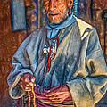 Tibetan Refugee - Paint by Steve Harrington