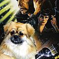 Tibetan Spaniel Art - Blade Runner Movie Poster by Sandra Sij