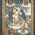 Tibetan Tanka With An Illustration by Everett