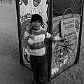 Ticket Booth Traveling Carnival Us Mexico Border Naco Sonora Mexico 1980 by David Lee Guss
