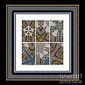 Tied To My Concrete Garden - Kaleidoscope - Hexaptych by Barbara Griffin
