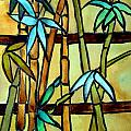 Stained Glass Tiffany Bamboo Panel by Donna Walsh