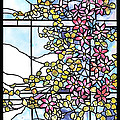 Stained Glass Tiffany Floral Skylight - Fenway Gate by Donna Walsh