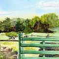 Tiffany Farms East Gate by Katherine  Berlin