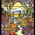 Tiffany Landscape Window by Donna Walsh
