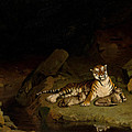 Tiger And Cubs by Jean-Leon Gerome