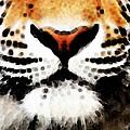 Tiger Art - Burning Bright by Sharon Cummings