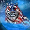 Tiger Flag by Carol Cavalaris