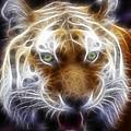 Tiger Greatness Digital Painting by Georgeta Blanaru