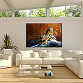 Tiger Painting Staged Room By Artist James Ahn by James Ahn