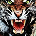Tiger Watercolour by Brian Raggatt
