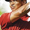Tiger Woods Artwork by Sheraz A
