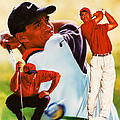 Tiger Woods by Dick Bobnick