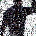 Tiger Woods Fist Pump Mosaic by Paul Van Scott