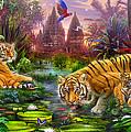 Tigers At The Ancient Stream by Jan Patrik Krasny