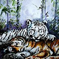 Tigers-mother And Child by Harsh Malik