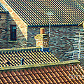 Tile Roofs - Thirsk England by Mary Carol Story