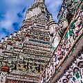 Tile Work On Wat Arun Bankok by Roy Bendell