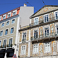 Tiled Building In Chiado District Of Lisbon by Artur Bogacki