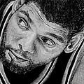 Tim Duncan Drawing The Champ Is Here by Tony Orcutt