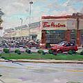 Tim Hortons By Niagara Falls Blvd Where I Have My Coffee by Ylli Haruni