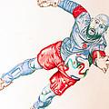 Tim Howard Drawing by Dora Taggett