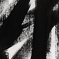 Timber- Vertical Abstract Black And White Painting by Linda Woods