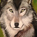 Timber Wolf In Summer by Renee Michelle Wenker