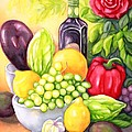 Time For Fruits And Vegetables by Inese Poga