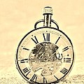 Time In The Sand In Sepia by Rob Hans
