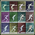 Time Lapse Motion Study Man Running Color by Tony Rubino