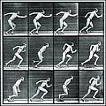 Time Lapse Motion Study Man Running Monochrome by Tony Rubino