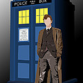 Time Lord And His Tardis by Jennifer Urciuolo