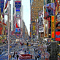 Time Square New York 20130503v8 Square by Wingsdomain Art and Photography