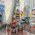 Time Square New York by Melly Terpening