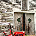 Red Tractor And Old Barn Ossipee New Hampshire by Dawna Moore Photography