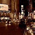 Times Square At Night - In Copper by Miriam Danar