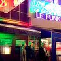 Times Square At Night - Le Funk by Miriam Danar