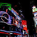 Times Square Lights by Theresa Muench