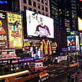 Times Square Ny Panoramic by Marie Naturally