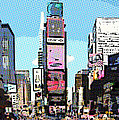 Times Square Nyc Cartoon-style by Liz Leyden