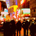 Times Square - The Lights Of New York by Miriam Danar