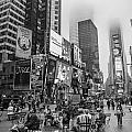 Times Square With Fog by John McGraw