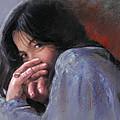 Timid Girl by Ylli Haruni