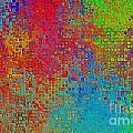 Tiny Blocks Digital Abstract - Bold Colors by Debbie Portwood