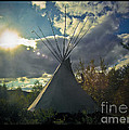 Tipi Morning Color by Jonathan Fine